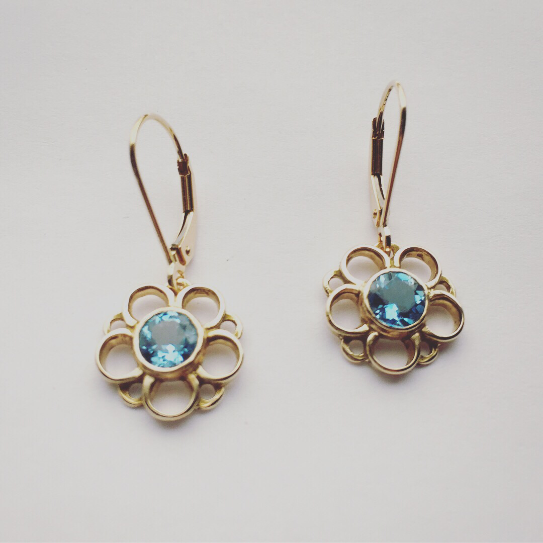 Garden Series Dangly Floral Earrings