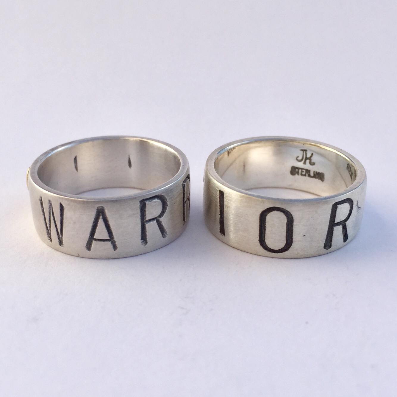 Warrior Ring Sterling Silver 8mm (wide) band