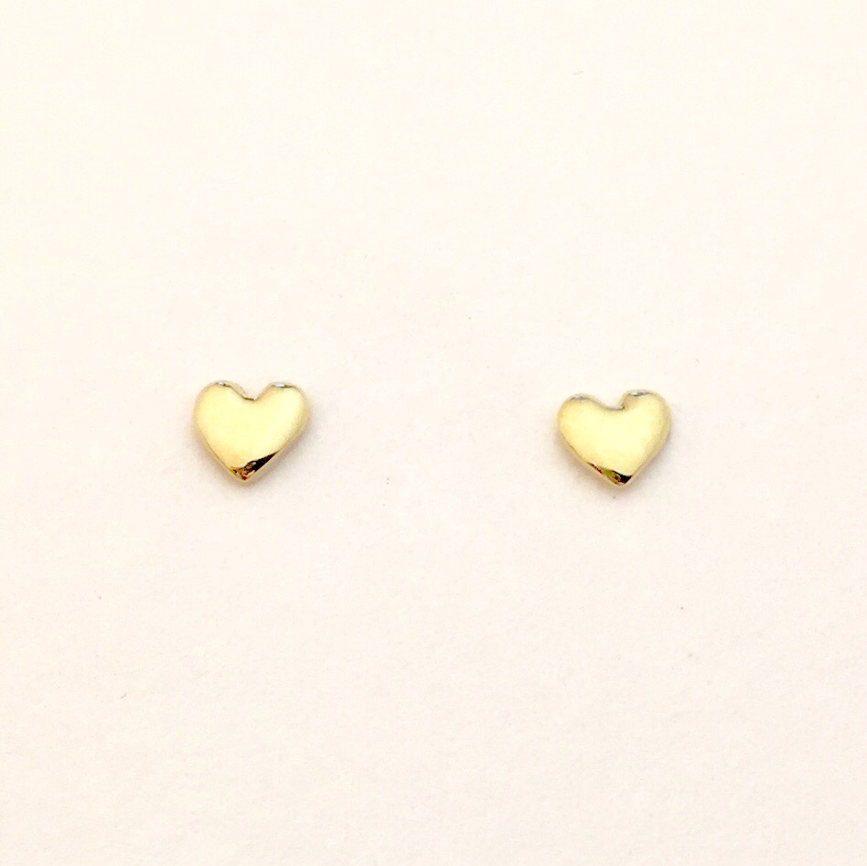4mm Tiny 18k #HeartofGold💛 stud earrings