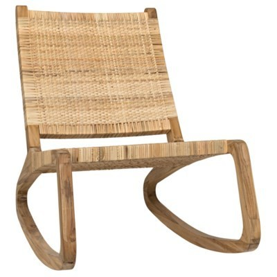 Miraculous Las Palmas Teak Rattan Rocking Chair By Noir Spiritservingveterans Wood Chair Design Ideas Spiritservingveteransorg