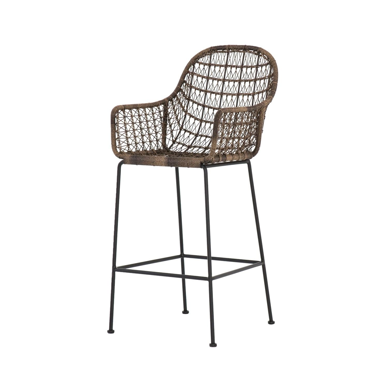 Pleasant Bandera Outdoor Wicker Bar Stool Machost Co Dining Chair Design Ideas Machostcouk