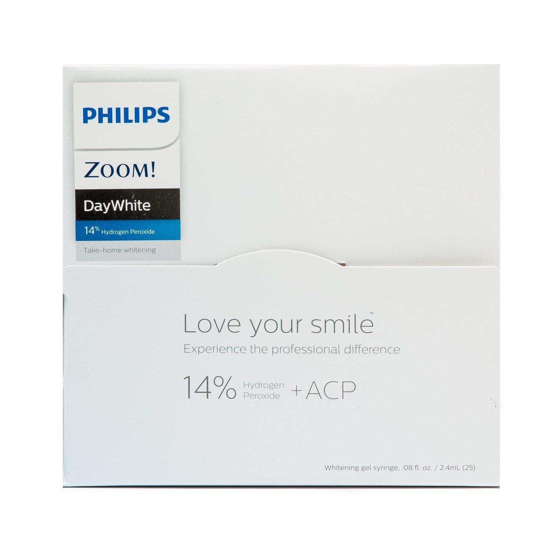 Philips Zoom! DayWhite Maximum White 14% Hydrogen Peroxide 25 Syringe  Bulk Kit