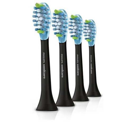 Philips Sonicare Adaptive Clean Black Brush Heads - 4  Pack