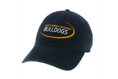 Hat - Navy - Bulldog Swoosh