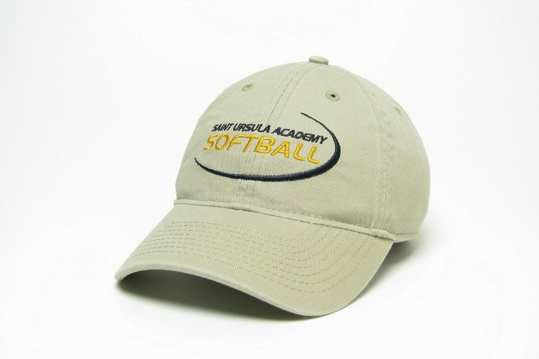 Hat - Khaki - Softball Swoosh