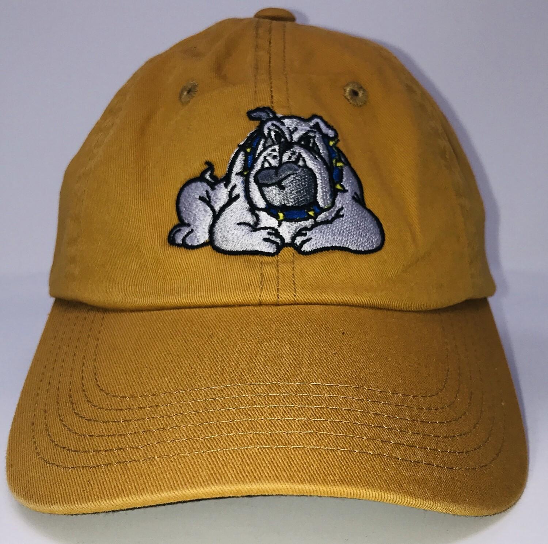 Hat - Gold - Bulldog