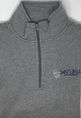 Quarter Zip - Grey - Crest