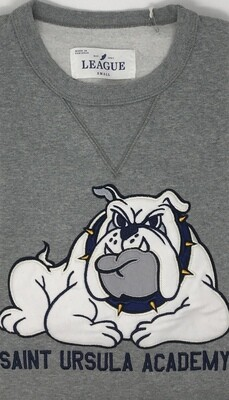 Crew Neck - Grey - Applique' Bulldog