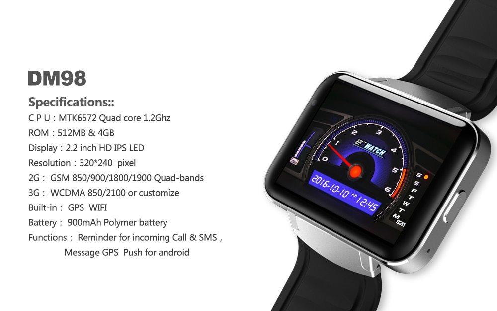 Android Smart Watch | DM98 Smart Watch | GetFitWatch