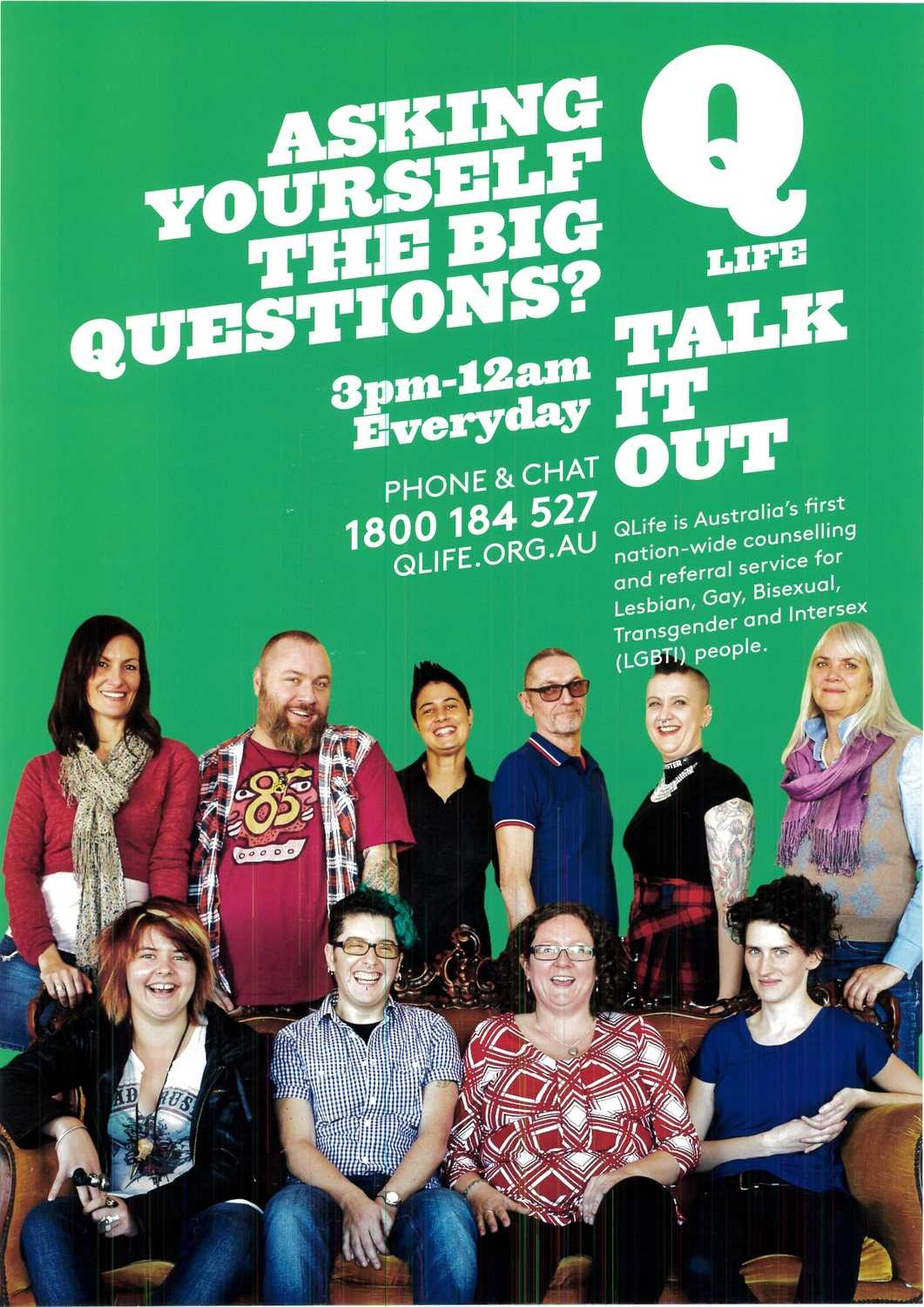 QLife Poster - Talk it Out - A3