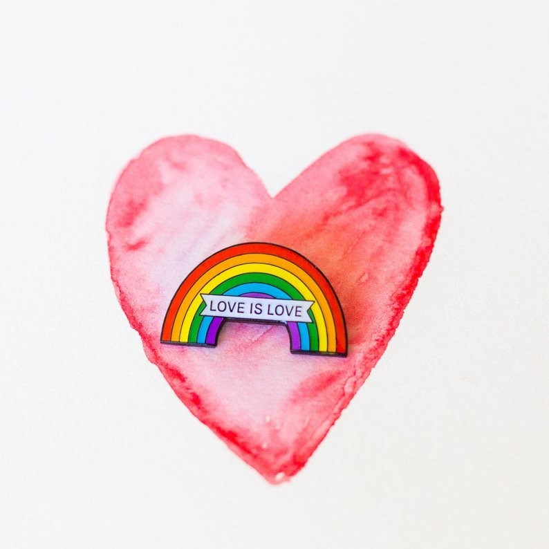Love is Love Enamel Pin - Made by My Bearded Pigeon