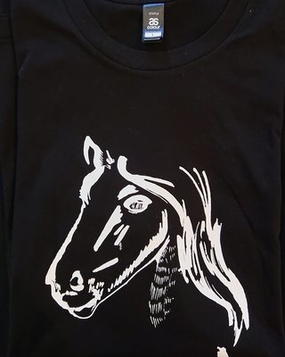 Show Ponies T-shirt - Black and White - 2XL