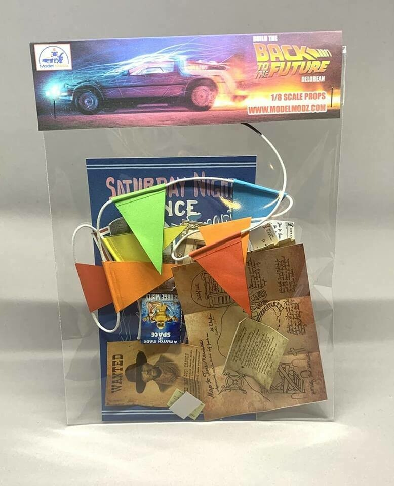 Delorean 1:8 scale miniature Paper Props (Pack 2)