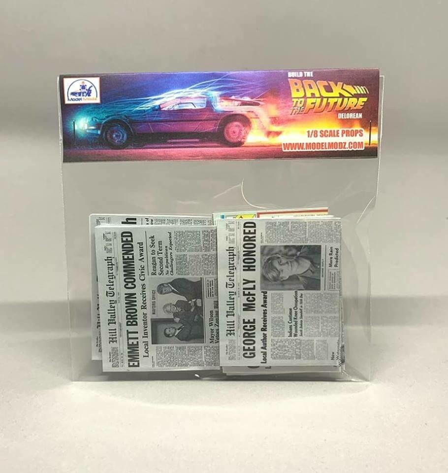 Delorean 1:8 scale miniature Paper Props (Pack 3)