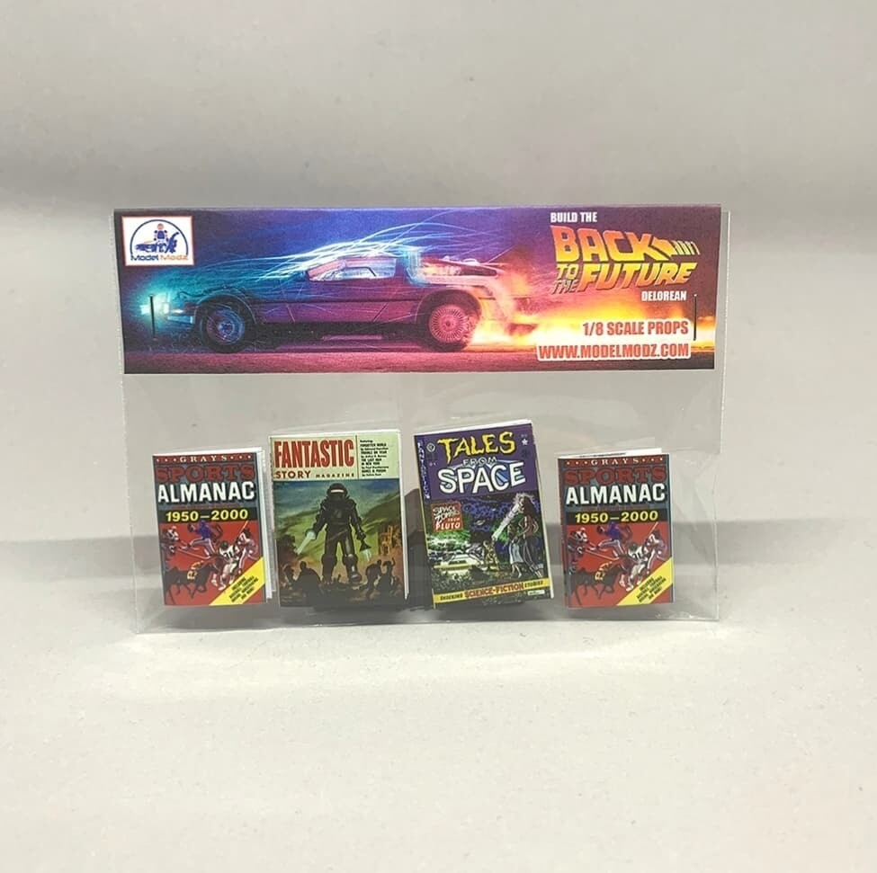 Delorean 1:8 scale miniature Paper Props (Pack 4)