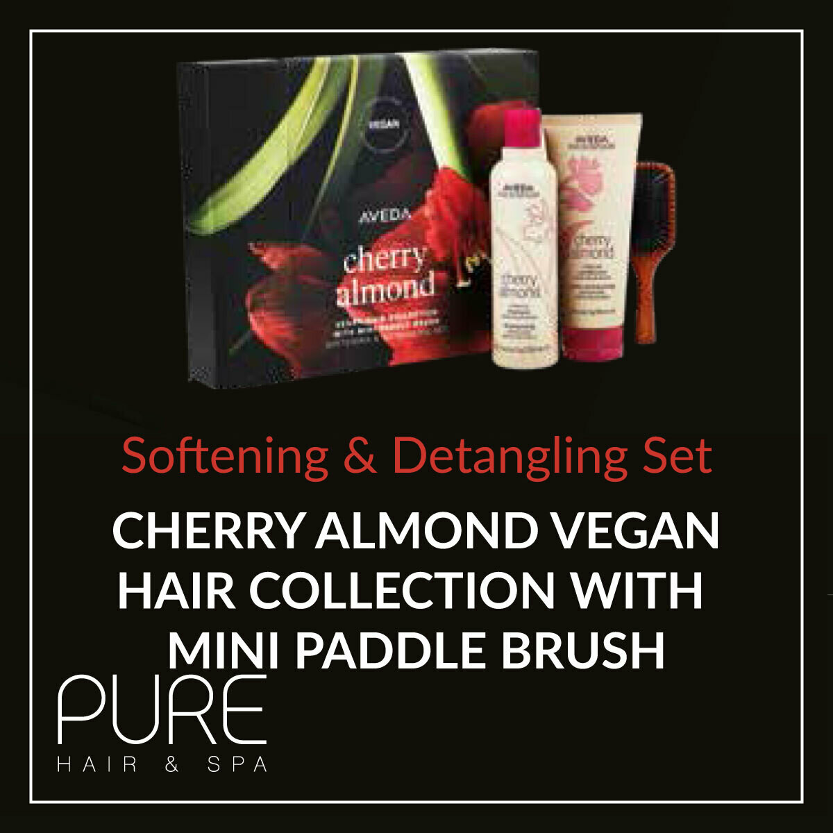 Aveda Cherry Almond Hair Care Gift Set.