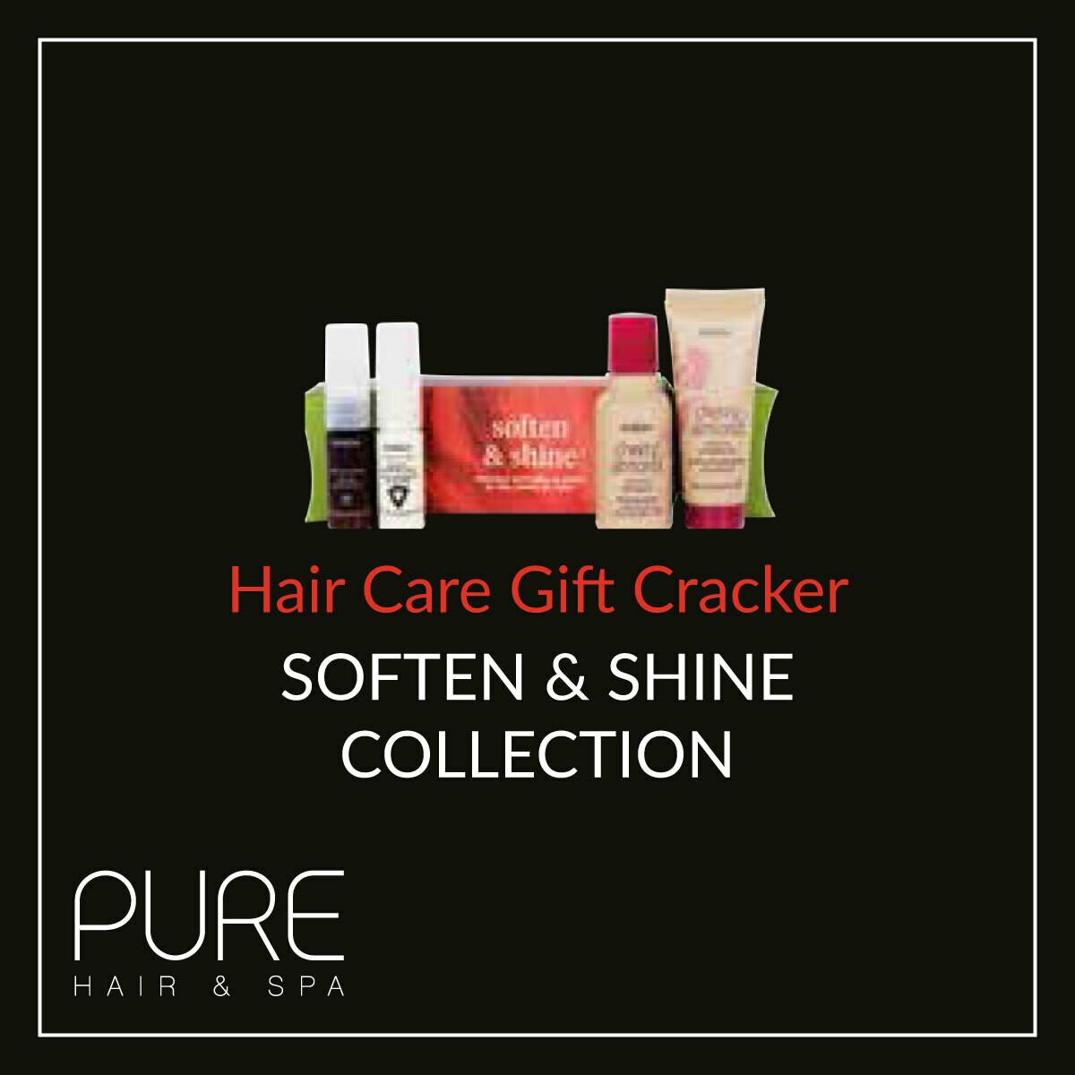 Aveda Soften & Shine Hair Care Gift Cracker.