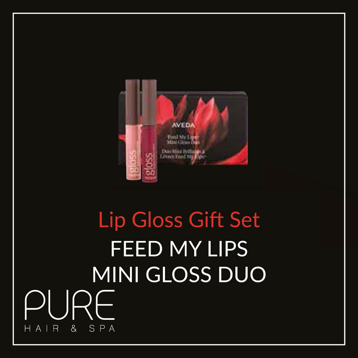 Aveda Feed My Lips Gloss Duo Gift Set.