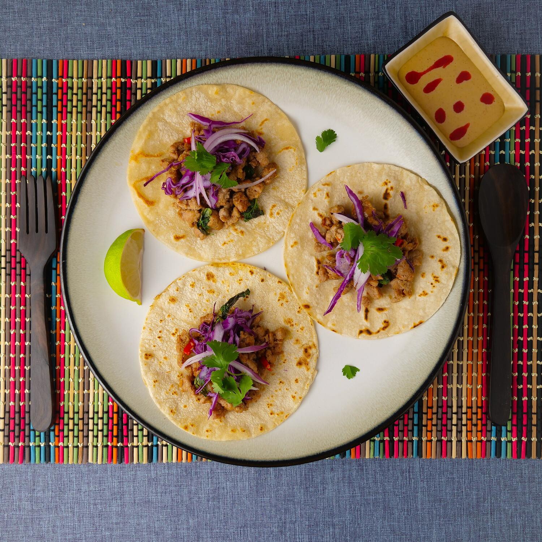 Thai Basil Turkey Tacos