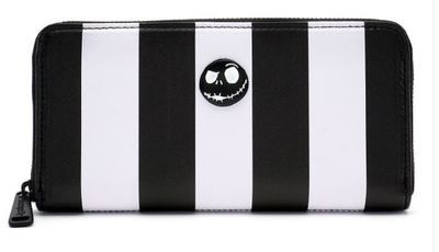 Nightmare Before Christmas Striped Zip Around Wallet