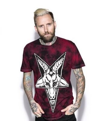 Baphomet Blood Moon Dye Tee ES