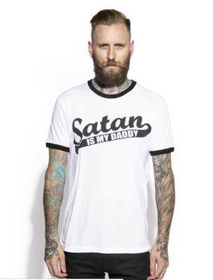 Satan Is My Daddy Ringer Tee