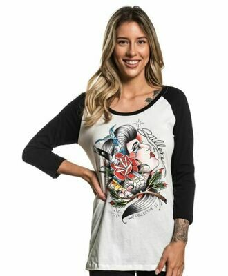 Cholita Raglan Antique white/black