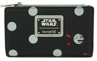 Star Wars Polka Death Star Dot Zip Bi-Fold Wallet