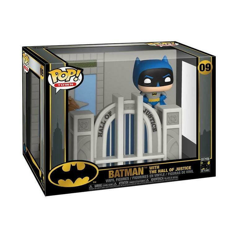 Hall Of Justice W Batman Funko Pop