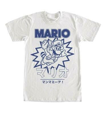 Super Mario Kanji Teal Tee