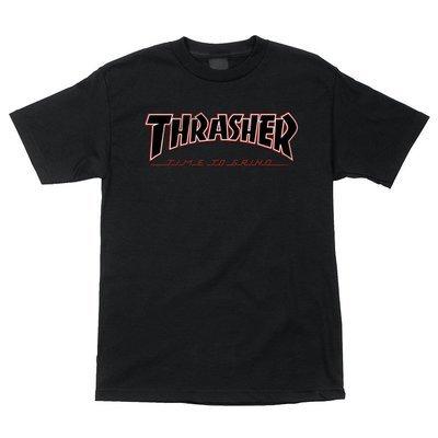 Thrasher Tee Black