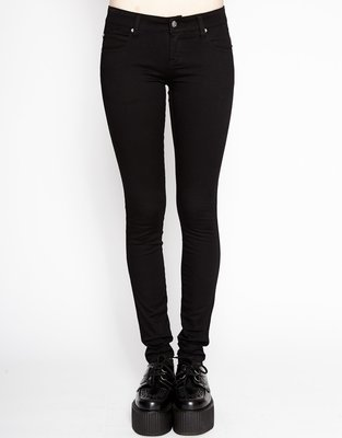 Black T Back Jean