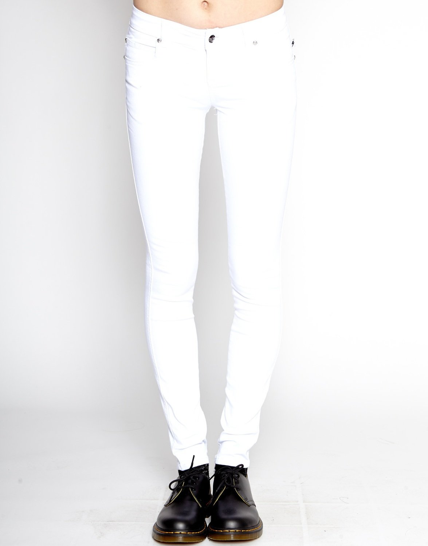 White T Back Jean