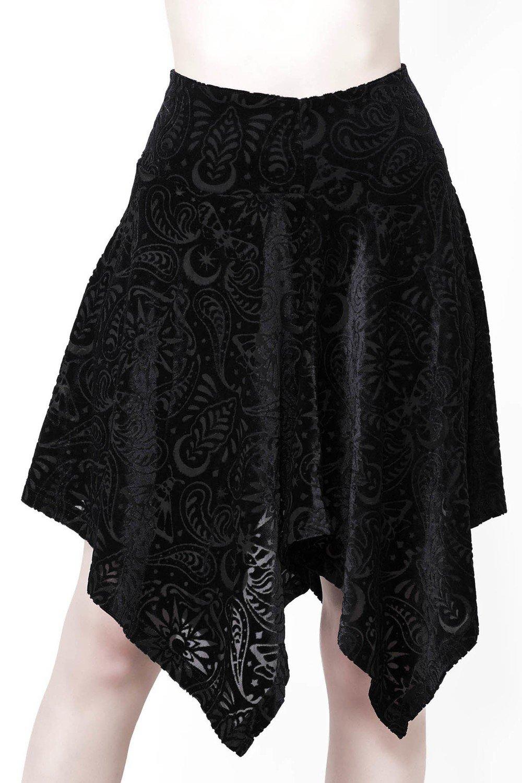 a92687379d Lepidoptera Etta Skater Skirt  Black Velvet
