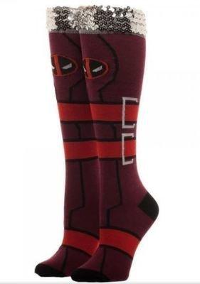 Deadpool Knee High Socks