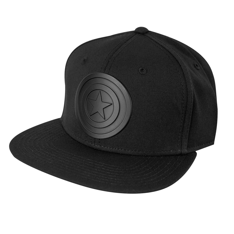 Captain America Black Logo Snapback
