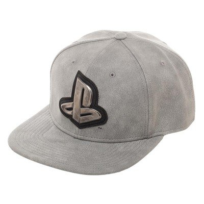 Playstation Distressed Metal Logo Snapback