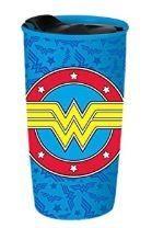 Wonder Woman Ceramic Travel Mug