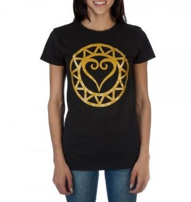 Kingdom Hearts Black And Gold Tee