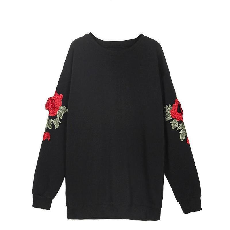 Hoodies embroidered roses