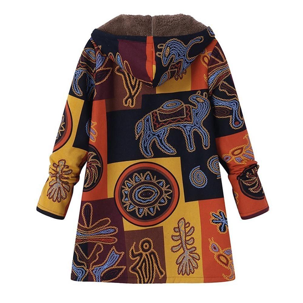 Coat women plus size hooded