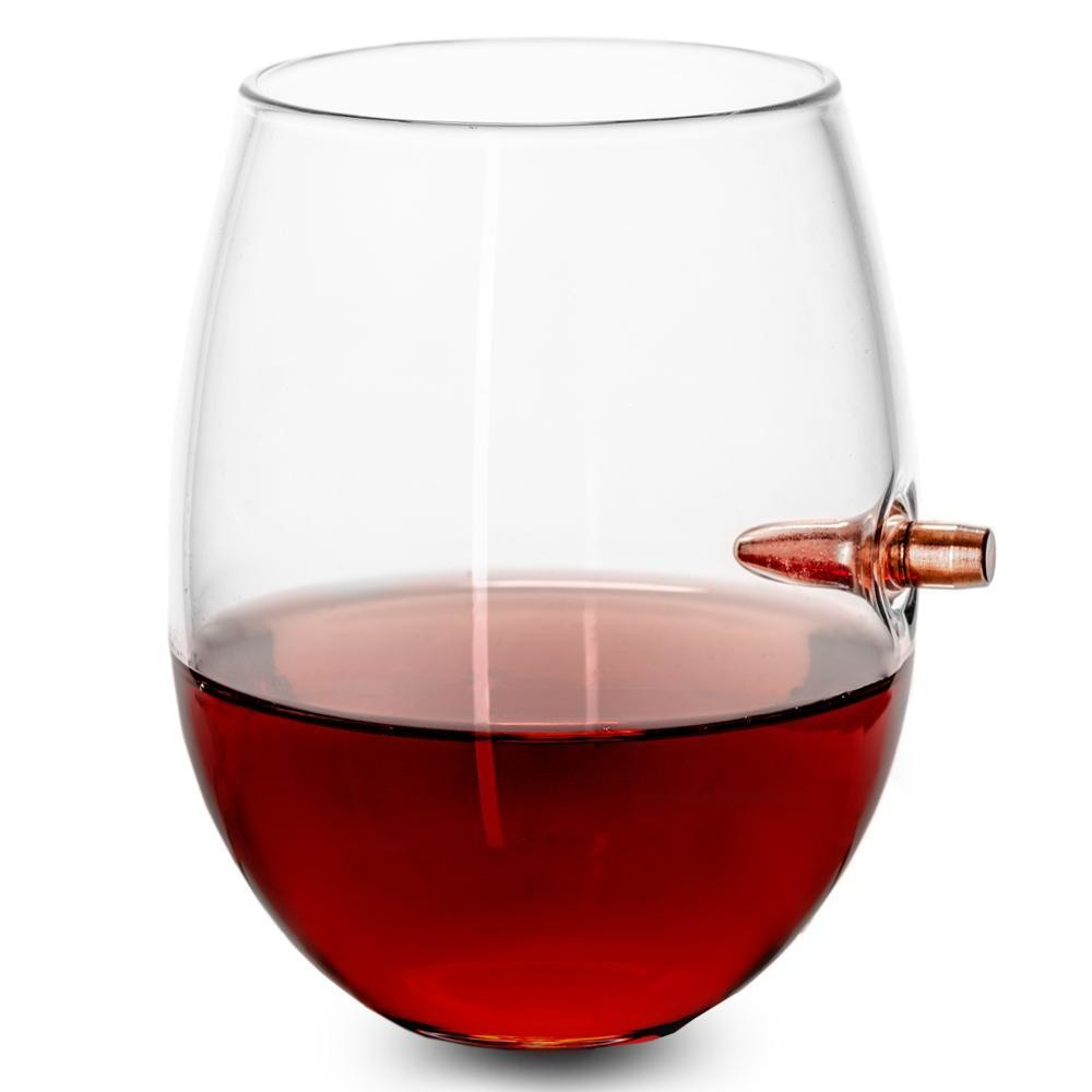.308 Bullet Wine Glass