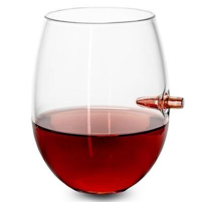 .308 Bullet Wine Glass