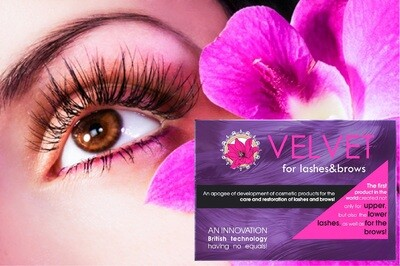 Ripsipermanentti ja Velvet For Lashes & Brows