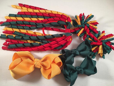 Yellow gold, Green and Red School Set