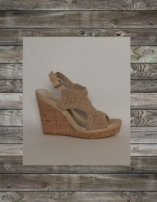 812c9b58294b Audrey Brooke Women s Macrame Wedges in Beige