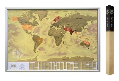 Scratch off World Map with Countries Capitals​, Best Personalized Gift for Friend, High Quality Product, Made in EU
