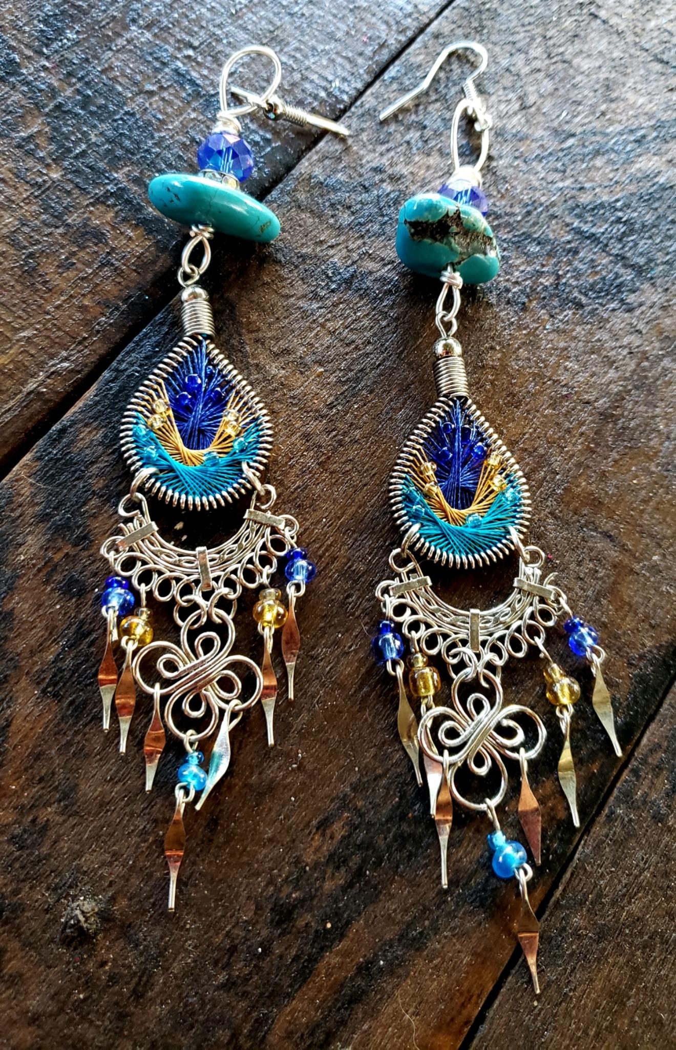 Tear Drop Turquoise Earrings 00328