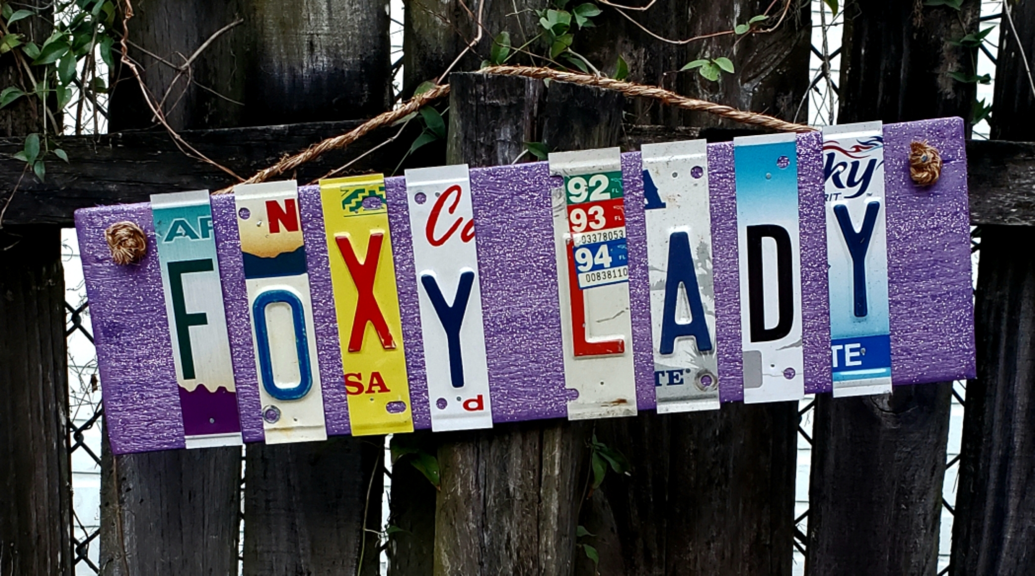 Foxy Lady license plate sign 00335