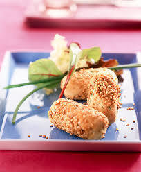Sesame and Black Seed Crusted Goat's Cheese 00020